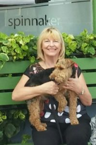 Chrissie with Oscar